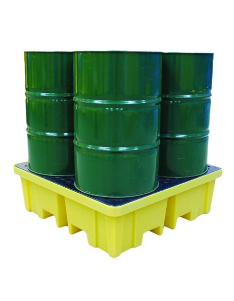 four-drums-spill-pallet-yellow