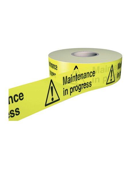 safety-sign-barrier-tape-maintenance-in-progress