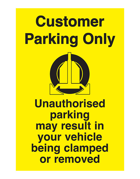 safety-sign-worn-customer-parking