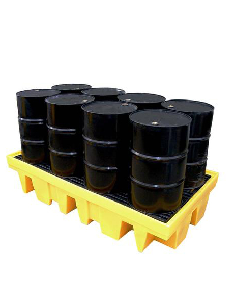 sump-pallet-for-2-pallets-of-drums-yellow-sc-em011