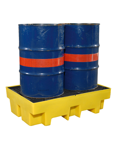 two-drums-polyethylene-yellow-spill-pallet-sc-em003