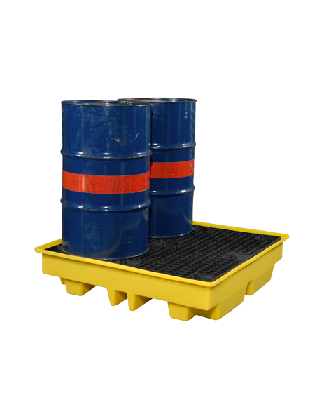 ultra_low_profile_four_drums_yellow_spill_pallet