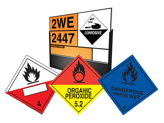 HAZCHEM & TRANSPORT LABELS