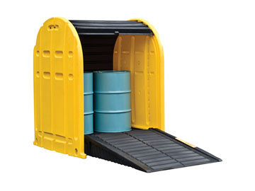 STEEL COVERED SPILL PALLET